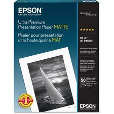 EPS S041341 Epson Ultra Premium Matte Presentation Paper EPSS041341