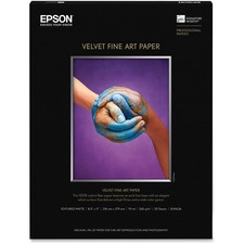 EPS S041636 Epson Enhanced Matte Bright White Cotton Art Paper EPSS041636
