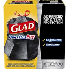 CLO70358 - Glad ForceFlex Drawstring Large Trash Bags