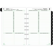 DTM 12010 Day-Timer 1-Page-Per-Day Planner Page Refill DTM12010