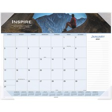 AAG89801 - At-A-Glance Panoramic Motivational Monthly Desk Pad
