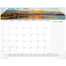 AAG89802 - At-A-Glance Panoramic Landscape Monthly Desk Pad