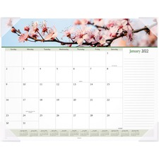 AAG89805 - At-A-Glance Panoramic Floral Image Monthly Desk Pad