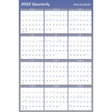 AAGA1102 - At-A-Glance Erasable/Reversible Yearly Wall Planner