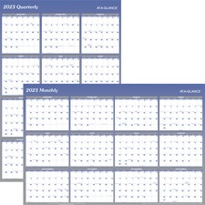 AAG A1152 At-A-Glance 2-Sided Yearly Wipe-off Wall Planners AAGA1152
