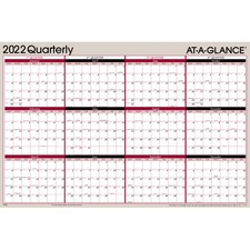 AAGA123 - At-A-Glance Erasable/Reversible Yearly Wall Planner