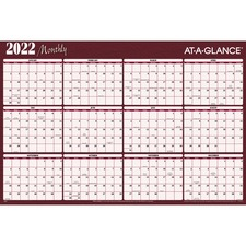 AAGA152 - At-A-Glance Erasable/Reversible Horizontal Yearly Wall Planner