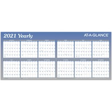 AAGA177 - At-A-Glance Large Erasable/Reversible Horizontal Yearly Wall Planner