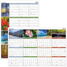 AAGPA133 - At-A-Glance Seasons in Bloom Erasable/Reversible Wall Planner