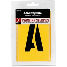 CHA 01560 Chartpak Gothic Letter/Number Painting Stencils CHA01560