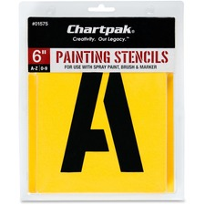 CHA 01575 Chartpak Gothic Letter/Number Painting Stencils CHA01575