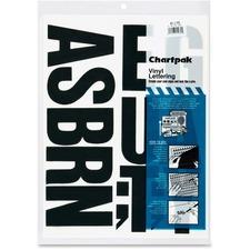 CHA 01175 Chartpak Vinyl Uppercase Letters CHA01175