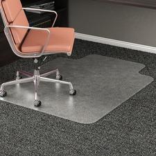 "Deflecto RollaMat for Carpet - Carpeted Floor - 53"" (1346.20 mm) Length x 45"" (1143 mm) Width - Vinyl - Clear"