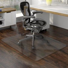 "Deflecto Non-studded Hard Floor Chairmats - Uncarpeted Floor - 60"" (1524 mm) Length x 46"" (1168.40 mm) Width - Vinyl - Clear"
