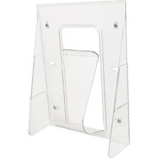 """Deflecto Stand-Tall Literature Display - 1 Pocket(s) - 11.8"""" Height x 9.1"""" Width x 2.8"""" Depth - Wall Mountable, Desktop - Clear - Plastic - 1Each"""