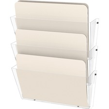 DEF 63601RT Deflecto Resistant 3-Pocket Wall Set DEF63601RT