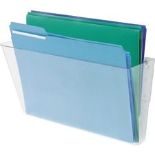 "Deflecto Stackable DocuPocket - 1 Compartment(s) - 7"" Height x 13"" Width x 4"" Depth - Stackable - Clear - Plastic - 1 Each"