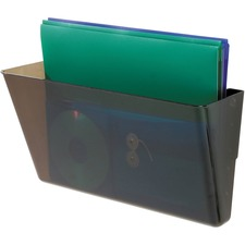 "Deflecto Stackable DocuPocket - 1 Compartment(s) - 7"" Height x 13"" Width x 4"" Depth - Stackable - Smoke - 1 Each"