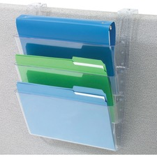 DEF 73501RT Deflecto 3-Pocket Partition Letter Wall System DEF73501RT