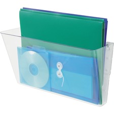 "Deflecto Stackable DocuPocket - 1 Compartment(s) - 7"" Height x 16.3"" Width x 4"" Depth - Clear - 1 Each"