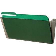 """Deflecto Stackable DocuPocket - 1 Compartment(s) - 7"""" Height x 16.3"""" Width x 4"""" Depth - Stackable - Smoke"""