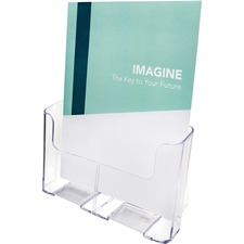 "Deflecto Single Compartment DocuHolder - 1 Pocket(s) - 10.8"" Height x 9.3"" Width x 3.8"" Depth - Desktop - Clear - Plastic - 1 Each"