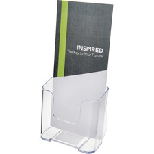 "Deflecto Single Compartment DocuHolder - 1 Pocket(s) - 7.8"" Height x 4.4"" Width x 3.3"" Depth - Desktop - Clear - Plastic - 1 Each"