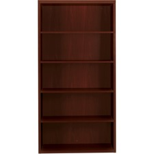 HON 11555AXNN HON Valido Series 11500 Mahogany Laminate Bookcase HON11555AXNN