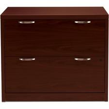 HON 11563AFNN HON Mahogany Laminate 2-drawer Lateral File HON11563AFNN