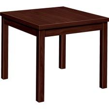 HON 80192NN HON Mahogany Laminate Occasional Corner Table HON80192NN