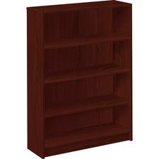 HON 1874N HON Mahogany Square-edge Laminate Bookcase HON1874N