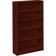 HON 1875N HON Mahogany Square-edge Laminate Bookcases HON1875N