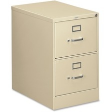 "HON 310 Series Vertical File With Lock - 18.3"" x 26.5"" x 29"" - 2 x Drawer(s) for File25.50"" (647.70 mm) Drawer Depth - Legal - Vertical - Security Lock, Dent Proof, Rust Resistant, Ball-bearing Suspension, Durable, Reinforced, Sturdy, Hanging Rail, Label"