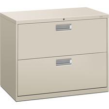 HON 682LQ HON Brigade 600 Gray Locking Drawer Lateral Files HON682LQ