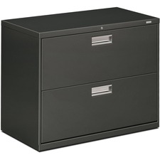 HON 682LS HON Brigade Charcoal Locking Drawer Lateral File HON682LS