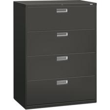HON 694LS HON Brigade Charcoal Locking Drawer Lateral File HON694LS