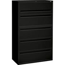 HON 795LP HON Brigade 700 Series Black 5-drawer Lateral File HON795LP