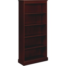 HON 94225NN HON 94000 Series Mahogany Fixed Shelf Bookcase HON94225NN
