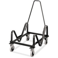 "HON GuestStacker Stacking Chair Cart - 4 Casters - Steel - 21.4"" Width x 35.5"" Depth x 37.9"" Height - Black"