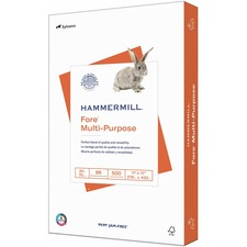 "Hammermill Paper for Multi 11x17 Inkjet, Inkjet Copy & Multipurpose Paper - White - 96 Brightness - Ledger/Tabloid - 11"" x 17"" - 20 lb Basis Weight - FSC"