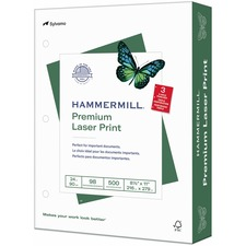 HAM 107681 Hammermill 3-Hole Punched Laser Print Paper HAM107681