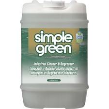 Simple Green Industrial Cleaner/Degreaser - Concentrate Liquid - 640 fl oz (20 quart) - Original Scent - White