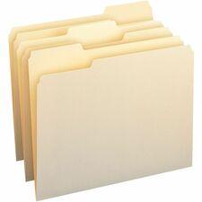SMD 10330 Smead 1/3 Cut Tab Manila File Folders SMD10330