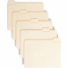 SMD 10350 Smead 1/5 Cut Single Ply Manila File Folders SMD10350