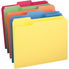 SMD 11943 Smead 1-ply Tab Colored File Folders SMD11943