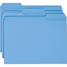 SMD 12034 Smead 1/3 Cut 2-ply Tab Colored File Folders SMD12034