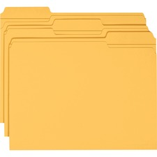 SMD 12234 Smead 1/3 Cut 2-ply Tab Colored File Folders SMD12234