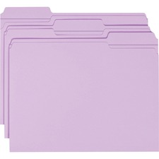SMD 12434 Smead 1/3 Cut 2-ply Tab Colored File Folders SMD12434