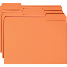 SMD 12534 Smead 1/3 Cut 2-ply Tab Colored File Folders SMD12534