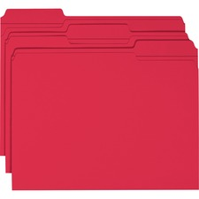 SMD 12734 Smead 1/3 Cut 2-ply Tab Colored File Folders SMD12734